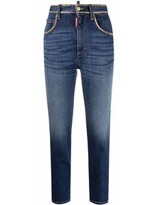 Jeans Dsquared2 High Waist Cropped Twiggy Jean